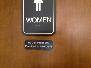 No Cll Phone Use In Restroom