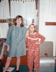 Janet and Teresa in pajamas