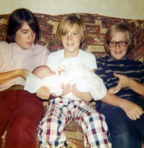 The Little Kids: Tom, John, Rick - and our latecomer, Craig